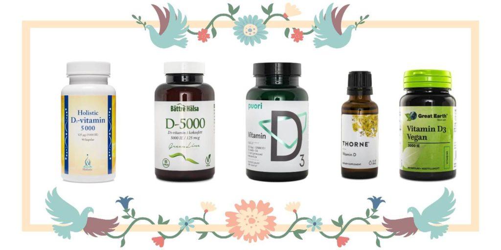 D-vitamin bäst i test