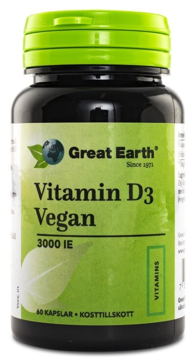 Vitamin D3 vegan 3000 IE - Great earth