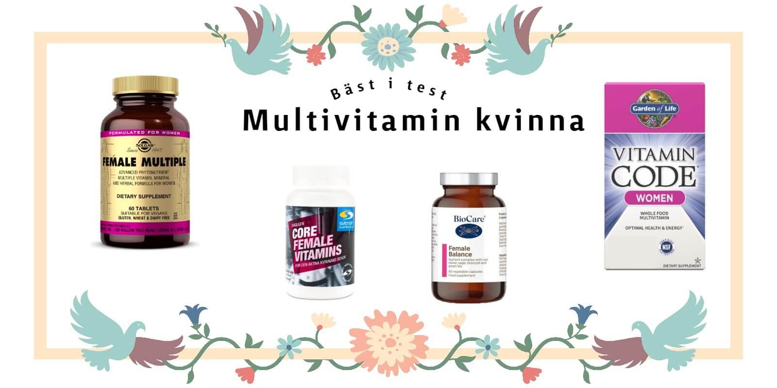 bäst i test Multivitamin kvinna